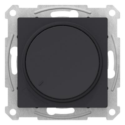 Schneider Electric AtlasDesign Карбон Светорегулятор (диммер) поворотно-нажимной 630Вт механизм купить в интернет-магазине Азбука Сантехники