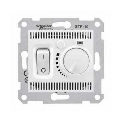 Schneider Electric Sedna Белый Регулятор теплого пола с датчиком температуры 10A купить в интернет-магазине Азбука Сантехники