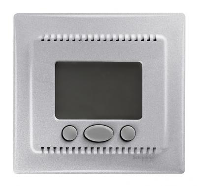 Schneider Electric Sedna Алюминий Регулятор теплого пола с датчиком температуры 10A купить в интернет-магазине Азбука Сантехники