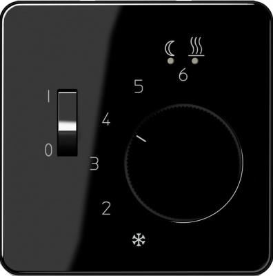 Jung Черный Накладка регулятора теплого пола (CDFTR231PLSW) купить в интернет-магазине Азбука Сантехники