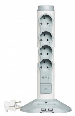 Legrand Стойка 2 розетки USB + MicroUSB + 4 розетки с/з купить в интернет-магазине Азбука Сантехники