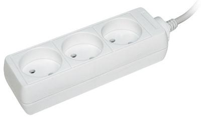 IEK У3 Удлинитель без выключателя 2P, 3 розетки, шнур 3м, 10A/250V купить в интернет-магазине Азбука Сантехники