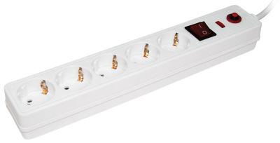 IEK СФ-05К Фильтр сетевой 2P+РЕ, 5 розеток, шнур 3м, 16A/250V купить в интернет-магазине Азбука Сантехники