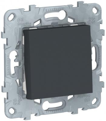 Schneider Electric Unica New Антрацит Переключатель 1-клавишный сх.6 10 AX 250В купить в интернет-магазине Азбука Сантехники
