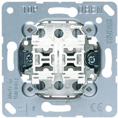 Jung Механизм Переключатель 2-клавишный 10A (509U) купить в интернет-магазине Азбука Сантехники