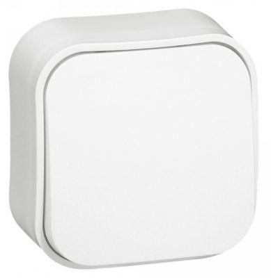 Legrand Quteo Белый Переключатель 1-клавишный на 2 направления 10A IP20 купить в интернет-магазине Азбука Сантехники