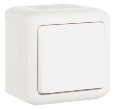Legrand Quteo Белый Переключатель 1-клавишный на 2 направления 10A IP44 купить в интернет-магазине Азбука Сантехники