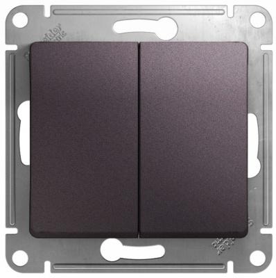 Schneider Electric Glossa Сиреневый туман Переключатель 2-клавишный (схема 6) 10AX механизм купить в интернет-магазине Азбука Сантехники