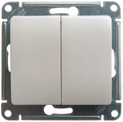 Schneider Electric Glossa Перламутр Переключатель 2-клавишный (схема 6) 10AX механизм купить в интернет-магазине Азбука Сантехники