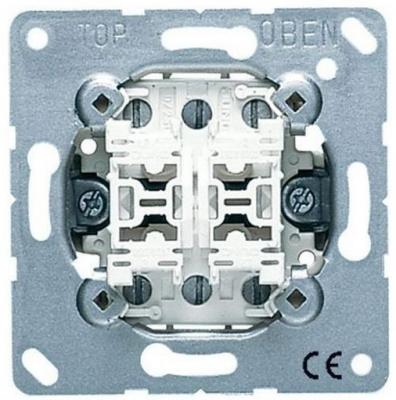 Jung Механизм Переключатель 2-клавишный 10A (EP409U) купить в интернет-магазине Азбука Сантехники