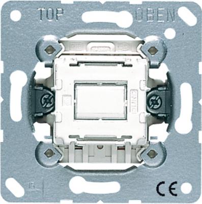 Jung Механизм Переключатель кнопочный 1-клавишный 10A купить в интернет-магазине Азбука Сантехники