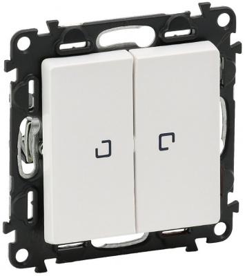 Legrand Valena Life Белый Переключатель 2-клавишный с подсветкой 10A купить в интернет-магазине Азбука Сантехники