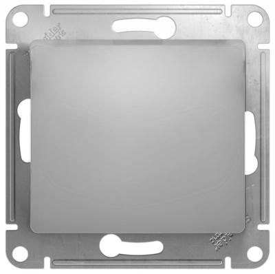 Schneider Electric Glossa Алюминий Переключатель 1-клавишный 10A (схема 6) купить в интернет-магазине Азбука Сантехники
