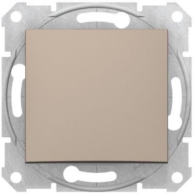 Schneider Electric Sedna Титан Переключатель 1-клавишный 10A купить в интернет-магазине Азбука Сантехники
