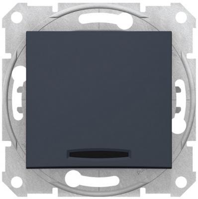 Schneider Electric Sedna Графит Переключатель перекрестный 1-клавишный с подсветкой 10A купить в интернет-магазине Азбука Сантехники