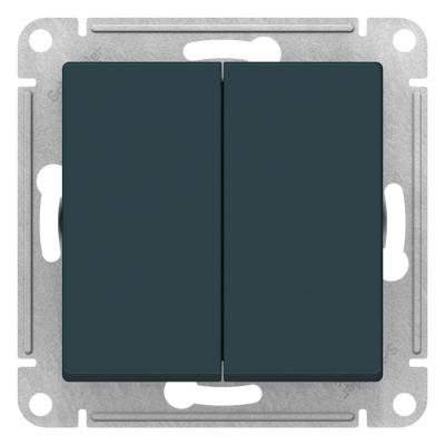 Schneider Electric AtlasDesign Изумруд Переключатель 2-клавишный сх.6 10AX механизм купить в интернет-магазине Азбука Сантехники