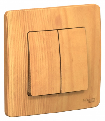 Schneider Electric Blanca Ясень Переключатель 2-клавишный скрытой установки 10A 250B купить в интернет-магазине Азбука Сантехники
