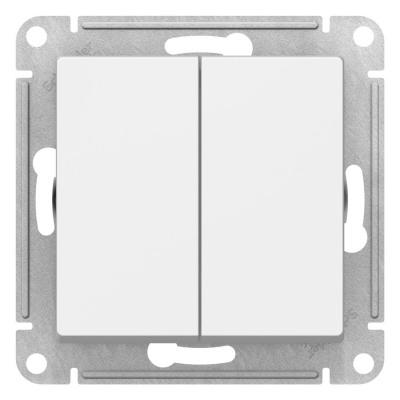 Schneider Electric AtlasDesign Белый Переключатель 2-клавишный сх.6 10AX механизм купить в интернет-магазине Азбука Сантехники