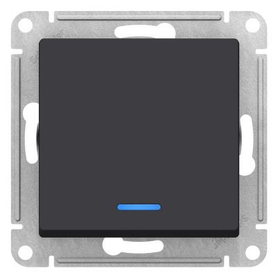 Schneider Electric AtlasDesign Карбон Переключатель 1-клавишный с подсветкой сх.6A 10AX механизам купить в интернет-магазине Азбука Сантехники