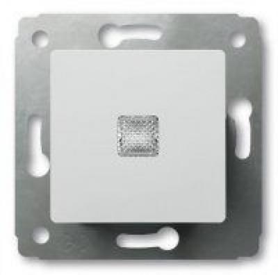 Legrand Cariva Белый Переключатель 1-клавишный на 2 направления с подсветкой 10A купить в интернет-магазине Азбука Сантехники