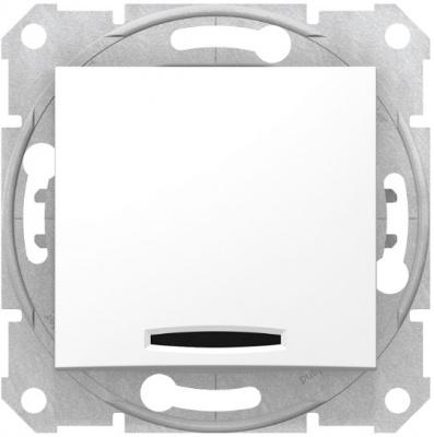 Schneider Electric Sedna Белый Переключатель 1-клавишный с подсветкой 10A купить в интернет-магазине Азбука Сантехники
