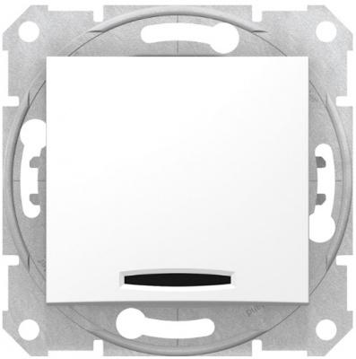 Schneider Electric Sedna Белый Переключатель перекрестный 1-клавишный с подсветкой 10A купить в интернет-магазине Азбука Сантехники