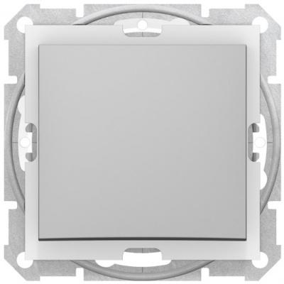Schneider Electric Sedna Алюминий Переключатель перекрестный 1-клавишный 10A IP44 купить в интернет-магазине Азбука Сантехники