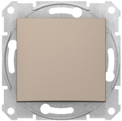 Schneider Electric Sedna Титан Переключатель 1-клавишный 16A купить в интернет-магазине Азбука Сантехники