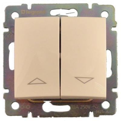 Legrand Valena Слоновая кость Переключатель привода рольставней с электрической блокировкой купить в интернет-магазине Азбука Сантехники