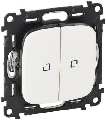 Legrand Valena Allure Белый Переключатель 2-клавишный с подсветкой 10A купить в интернет-магазине Азбука Сантехники