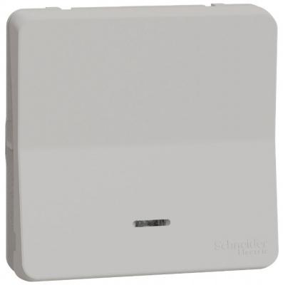 Schneider Electric Mureva Styl Белый Переключатель 1-клавишный на 2 направления с подсветкой IP55 купить в интернет-магазине Азбука Сантехники