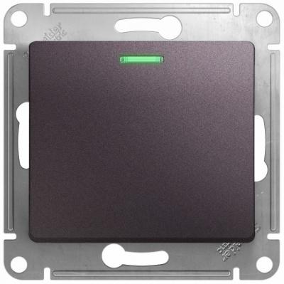 Schneider Electric Glossa Сиреневый туман Переключатель 1-клавишный с подсветкой (схема 6A) 10AX механизм купить в интернет-магазине Азбука Сантехники