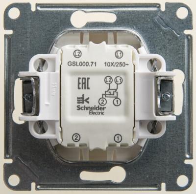 Schneider Electric Glossa Перламутр Переключатель перекрестный (схема 7) 10AX механизм купить в интернет-магазине Азбука Сантехники