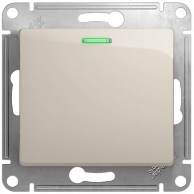 Schneider Electric Glossa Молочный Переключатель 1-клавишный с подсветкой (схема 6A) 10AX механизм купить в интернет-магазине Азбука Сантехники