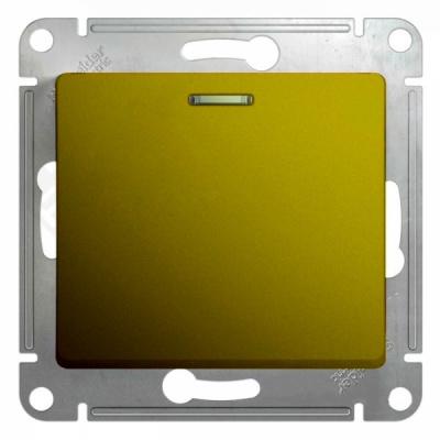 Schneider Electric Glossa Фисташковый Переключатель 1-клавишный с подсветкой (схема 6A) 10AX механизм купить в интернет-магазине Азбука Сантехники