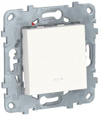 Schneider Electric Unica New Белый Переключатель 1-клавишный перекрестный с подсветкой сх.7A купить в интернет-магазине Азбука Сантехники