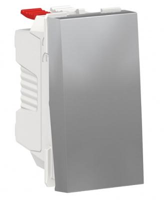Schneider Electric Unica New Modular Алюминий Переключатель 1-клавишный сх.6 10 AX 250В 1 модуль купить в интернет-магазине Азбука Сантехники