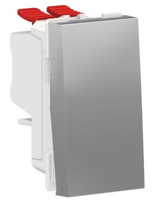 Schneider Electric Unica New Modular Алюминий Переключатель 1-клавишный перекрестный сх.7 10 AX 250В купить в интернет-магазине Азбука Сантехники