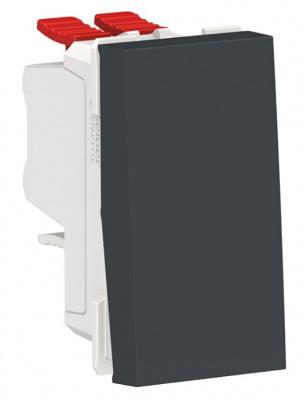 Schneider Electric Unica New Modular Антрацит Переключатель 1-клавишный перекрестный сх.7 10 AX 250В купить в интернет-магазине Азбука Сантехники