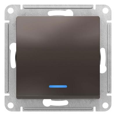 Schneider Electric AtlasDesign Мокко Переключатель 1-клавишный с подсветкой сх.6A 10AX механизам купить в интернет-магазине Азбука Сантехники