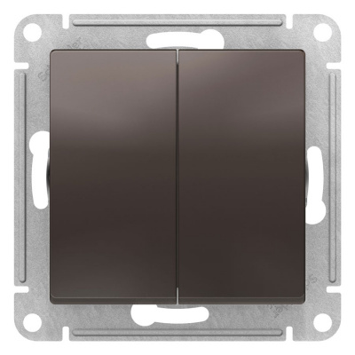 Schneider Electric AtlasDesign Мокко Переключатель 2-клавишный сх.6 10AX механизм купить в интернет-магазине Азбука Сантехники