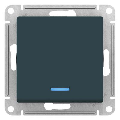 Schneider Electric AtlasDesign Изумруд Переключатель 1-клавишный с подсветкой сх.6A 10AX механизам купить в интернет-магазине Азбука Сантехники