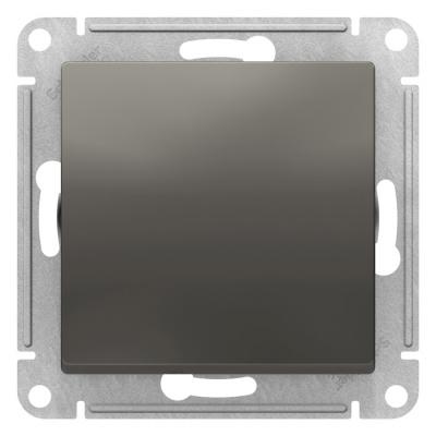 Schneider Electric AtlasDesign Сталь Переключатель 1-клавишный сх.6 10AX механизм купить в интернет-магазине Азбука Сантехники