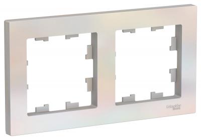 Schneider Electric AtlasDesign Жемчуг Рамка 2-постовая универсальная купить в интернет-магазине Азбука Сантехники