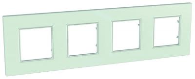 Schneider Electric Unica Quadro Матовое cтекло Рамка 4-ая купить в интернет-магазине Азбука Сантехники