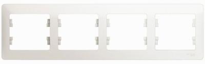 Schneider Electric Glossa Перламутр Рамка 4-постовая горизонтальная купить в интернет-магазине Азбука Сантехники