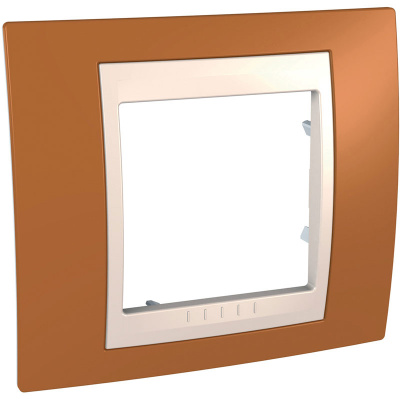 Schneider Electric Unica Хамелеон Оранжевый/Бежевый Рамка 1-ая купить в интернет-магазине Азбука Сантехники
