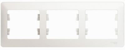 Schneider Electric Glossa Перламутр Рамка 3-постовая горизонтальная купить в интернет-магазине Азбука Сантехники