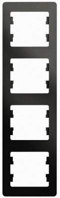 Schneider Electric Glossa Антрацит Рамка 4-постовая вертикальная купить в интернет-магазине Азбука Сантехники