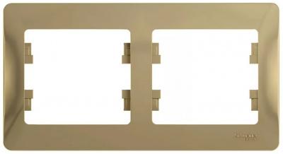 Schneider Electric Glossa Титан Рамка 2-постовая горизонтальная купить в интернет-магазине Азбука Сантехники